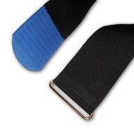 Cable tie, 50x410mm with a 60mm blue velcro tip