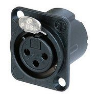 Neutrik XLR 3-pin Socket female, black