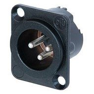 Neutrik XLR 3-pin Socket male, black
