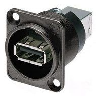 Neutrik USB Einbaubuchse, Durchführung, schwarz